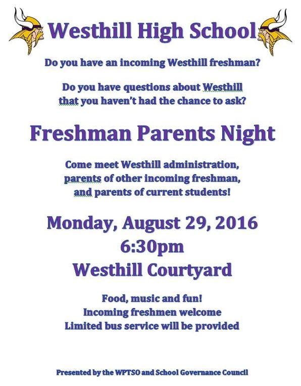 Freshman Parents Night