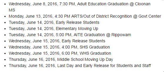 New dates